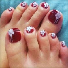 Toe Nail Art Designs for Summer Brides -5