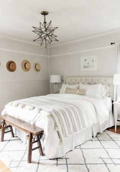This is a Bedroom Interior Design Ideas. House is a private bedroom and is usually hidden from our guests. However, it is important to her, not only for comfort but also style. Much of our bedroom … Bedroom Retreat, Home Bedroom, Master Bedroom, Bedroom Decor, Calm Bedroom, Airy Bedroom, Bedroom Lamps, Bedroom Inspo, Bedroom Ideas