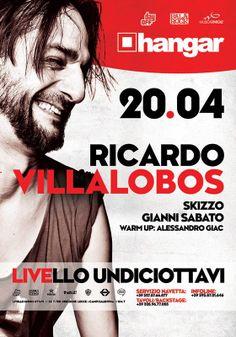Ricardo #Villalobos si esibisce al Livello 11/8 il 20 aprile 2014 a #Trepuzzi (Le). Ingresso a Pagamento.