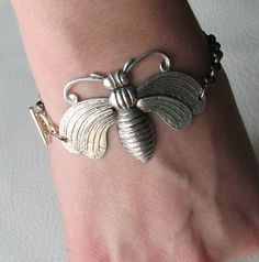 Nature themed jewelry is great for an Outdoor Princess and this victorian bee bracelet is only $20