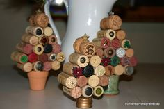 upcycled cork Christmas trees by P3