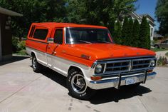 Nice red and white two tone 1971 F-250 Camper Special