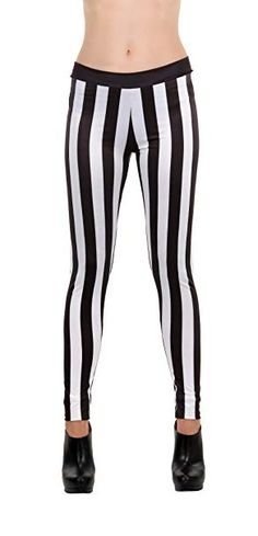 eabd06d78af8c Classic black and white striped leggings
