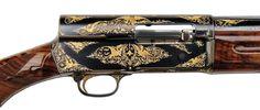 Richard Nixon's Rare Gold-Inlaid Browning Automatic Shotgun