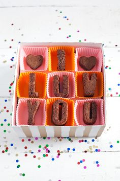 Use an alphabet mold to bake brownies that say something special.
