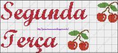 Boa noite meninas!  Trago pra vcs esse gráfico q fiz copiando de um bordado só a letra q é diferente,pois bem eu fiz essa semaninha para aju...