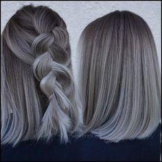 black and grey ombre hair Grey Ombre Hair, Black Grey Ombre, Black And Grey, Free Haircut, Unique Hairstyles, Silver Hair, Hair Beauty, Beauty Stuff, Hair Goals