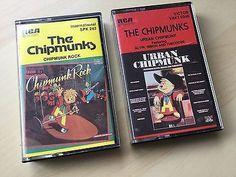 The Chipmunks Vtg Cassette Tapes RCA Chipmunk Rock 1982 Urban Chipmunk 1981
