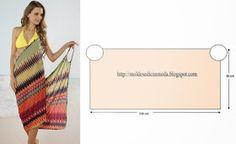 Womens Summer Bikini Swimwear Cover Up Beach Dress Diy Clothing, Sewing Clothes, Dress Sewing Patterns, Clothing Patterns, Fabric Sewing, Diy Kleidung, Creation Couture, Schneider, Diy Dress