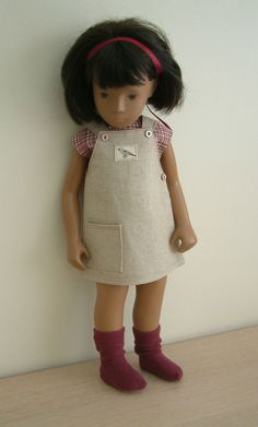 Pinafore and blouse for 16 inch Sasha doll. Sasha Doll, American Girl Clothes, Smock Dress, Friends Forever, Beautiful Dolls, Doll Clothes, Girl Outfits, Childhood, Flower Girl Dresses