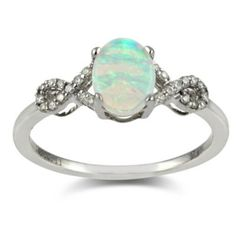 Shop 14K Opal and Diamond Ring - Borsheims.com