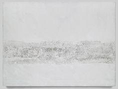 Otto Piene: Zonen, 1957/1983/1987. Oil on canvas, 59 x 78 3/4 inches (150 x 200 cm). Private Collection.