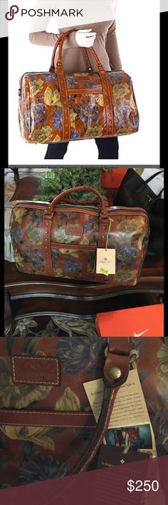 Patricia Nash Enlightened Garden weekender NWT Gorgeous Italian Leather bag ...travel in elegance with this practical detailed bag comes with dust bag and shoulder strap Patricia Nash Bags Travel Bags