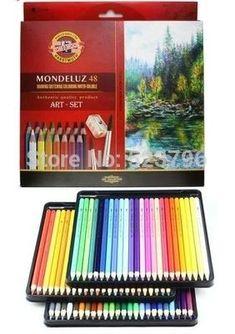 Koh-i-noor Mondeluz Aquarell Drawing Set. 72 Colored Pencils Water Color Pencils