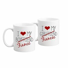 Fiancé Mug Set. A couple getting engaged is something to celebrate. Give them a gift set they can both enjoy together.