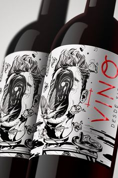 A gorgeous wine label design for your inspiration from innovative and authentic Artist. See these wine branding example to create ideas for your own. Wine Bottle Design, Wine Label Design, Wine Label Art, Wine Labels, Bottle Labels, Wine Packaging, Food Packaging Design, Packaging Design Inspiration, Branding Design