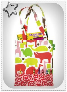 Love this crayon tote idea -- perfect for kids on the go!