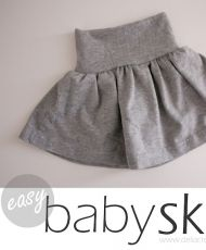 Children: Easy baby skirt. Free pattern