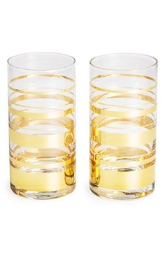 kate spade new york 'hampton street - highball glasses' (set of 2) available at #Nordstrom