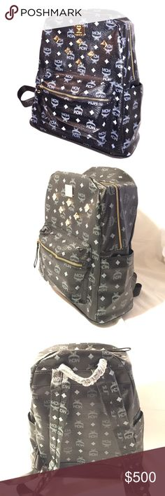 MCM large bookbag It's black and gold with 6 stones MCM Bags Backpacks
