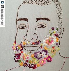 @rebeccaleviart has produced a series of flower beard portraits and they're very groovy. #regram New Flower Beard! I've been working on this guy under wraps for many months - excited to finally share him with you. #flowerbeard #queerart #beardart #bearart #handembroidery #embroideryart #bordado #broderie #rebeccaleviart #embroideredflowers #mrxstitch via The Mr X Stitch official Instagram Share your stitchy 'grams with us - @mrxstitch #xstitchersofinstagram #mrxstitch