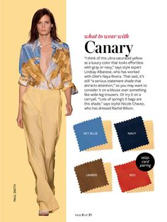 what to wear with canary