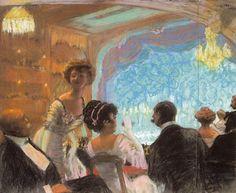 In the box, 1909 -  Boris Kustodiev (Art Movement: Realism, Art Nouveau School or Group: Mir Iskusstva (World of Art), AKhRR (Association of Artists of Revolutionary Russia), Union of Russian Artists)