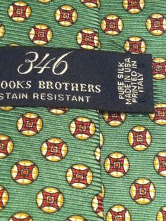 New BROOKS BROTHERS 346 100% Silk Multi Color Classic Mens Neck Tie #BrooksBrothers #NeckTie