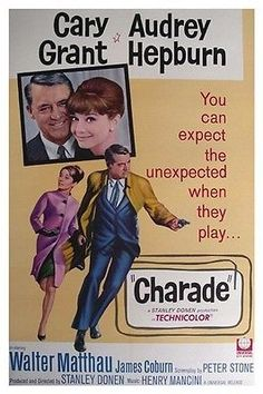 Charade Movie Poster Cary Grant Audrey Hepburn 2 Print Image Photo PW5 | eBay- La pareja más fina y distinguida!