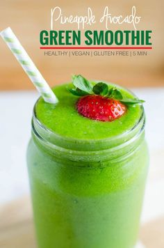 Drink your greens with this spinach avocado green smoothie. This nutritionally dense green smoothie is a perfect after-workout drink or to start your day. Healthy Green Smoothies, Fruit Smoothies, Healthy Drinks, Healthy Recipes, Fruit Recipes, Summer Recipes, Easy Recipes, Avocado Recipes, Soap Recipes
