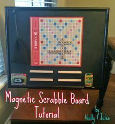Magnetic Scrabble Board Tutorial - www.wallyandjules.com