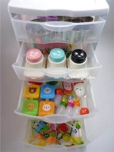 This site has TONS of great links to bento ideas and recipes! Love this bento tool organizer...someday when I have the space?