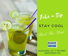 Beat the Summer heat and keep your cool, have a taste of our summer special at Chill Bar. Presenting refreshing summer special cocktails, and mocktails soothing your mood, For Reservation please Call : +91 11 404 68961 Or, Visit us: www.jaipurhometel.com #Summer #BeatTheHeat #Bevarages #chilledBeverages #ChillBar #Pub #Lounge #JaipurHotels #HotelsinJaipur #NirwanaHometelJaipur #BarsinJaipur