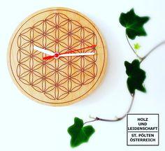 """wall clock """"flower of life"""", Wanduhr """"Blume des Lebens"""""""