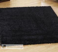 Lifestyle Plain Black Rug - Modern Style Rugs