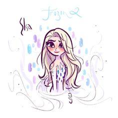 The Art of David Gilson Cute Disney Drawings, Disney Princess Drawings, Disney Sketches, Cartoon Drawings, Arte Disney, Disney Fan Art, Elsa Drawing, Frozen Fan Art, All Disney Princesses