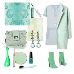 """""""Jeans dress and light green"""" by greensparkle1 ❤ liked on Polyvore featuring M.i.h Jeans, Apt. 9, Thibaut, L'Autre Chose, Designers Guild and Red Carpet Manicure"""