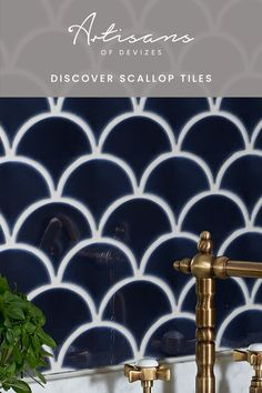 Drifting their way into bathroom and kitchen interiors, these scallop-shaped porcelain mosaic tiles will add drama to any design scheme. The colours of the tiles are inspired by the coast with a bright and vivid palette. The crackle glaze adds a beautiful iridescent finish. 12.5no sheets per square metre, sold per sheet. Kitchen Mosaic, Mosaic Tiles, Scallop Tiles, Navy Bathroom, Porcelain Ceramics, Kitchen Interior, Iridescent, Glaze, Coast