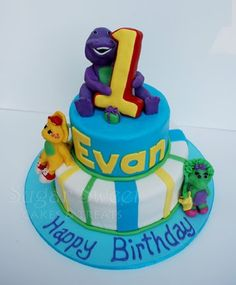 Sugar Sweet Cakes and Treats: Barney and Friends Cake (and Modeling Chocolate & RKT Recipes)