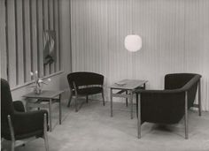 Installation of a selection of Nanna Ditzel furnitures. All made for Kurt Willadsen, 1952.