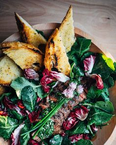 steak and kale salad with spring herb chimichurri // brooklyn supper