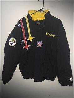 Vintage 90 s NFL Pittsburgh Steelers Pro Line Starter Parka Coat - Size  Large 15a2c8bf5