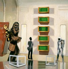 Chewbacca in Cloud City with Art by Scott Listfield