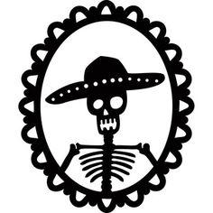 Silhouette Design Store: skeleton groom portrait