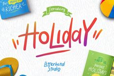 Holiday Font 60% OFF Intro Sale by letterhend on @creativemarket