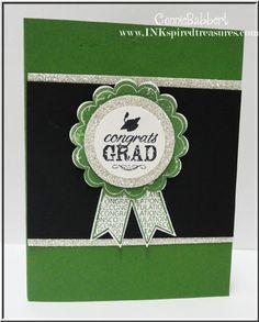 Pop-up graduation cap card, Blue Ribbon, Stampin Up, graduation