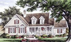 Low Country House Plan with 2137 Square Feet and 3 Bedrooms from Dream Home Source | House Plan Code DHSW076929 new houses, housefloor plan, country houses, dream homes, hous plan, vintag dream, house plans