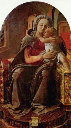 Filippino Lippi.  Madonna. 4. Viertel 15. Jh., Öl auf Holz. Rom, Galleria Nazionale d'Arte Antica. Italien. Renaissance.  KO 03129
