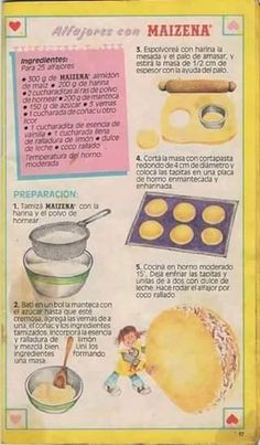 Alfajores de Maizena® (receta original) Receta de Norali - Cookpad Old Recipes, Vintage Recipes, Mexican Food Recipes, Sweet Recipes, Cookie Recipes, Dessert Recipes, Sweet Desserts, Delicious Desserts, Yummy Food