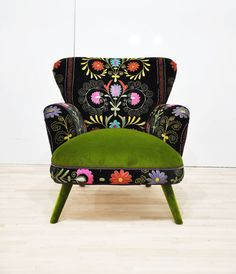 Suzani green armchair